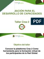 Taller CREA 2- Formación para el desarrollo de capacidades