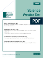 IBT (International Benchmark Test)Sample Paper Grade 7 Science