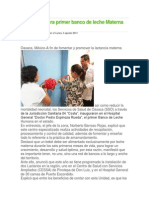 04-08-14 Ciudadania-express La SSA Inagura Primer Banco de Leche Materna en El Estado