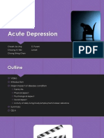 Acute Depression Mental Health Nursinf