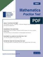 IBT Practice Test Grade 8 Maths