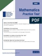 IBT Practice Test Grade 7 Maths