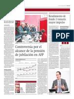 Controversia Por El Alcance de La Pensión de Jubilación en AFP_Gestión 15-08-2014