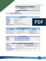 Ejemplo Formato Requerimiento Software