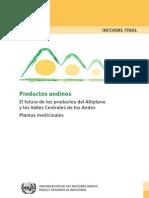 Productos Andinos Futuro Plantas Med 2008 ONUDI