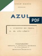 Azul - Ruben Dario