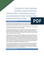 La Constitución de 1978. Proceso de elaboración. Características. Estructura y contenido básico. Los principios estructurales del orden constitucional..docx