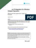 Integration Wireless Hotspot Operators