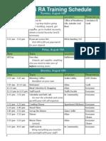 ra training schedule 2014