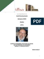 Eco Umberto,lector in fabula