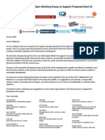 Open Letter to the UN's Open Working Group on Proposed Goal 16