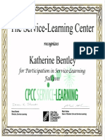 service learning certificate-fall 2011