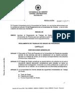 Reglamento Trabajo de Grado Pregrado Resolucion 034 2009