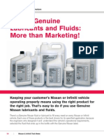 Nissan Genuine Lubricants and Fuids