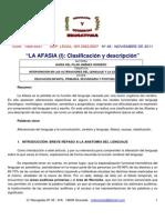La Afasia Clasificación y Descripción