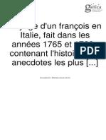 Jérôme Lalande.- Voyage d'Un François en Italie