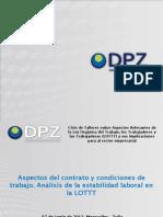 Taller Contrato-condiciones de Trabajo y Estabilidad LOTTT