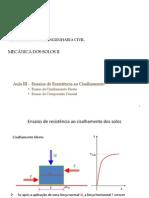 Ensaios Triaxiais e Cisalhamneto Direto UNIPAC 2011-1