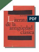 Forster, H. A. - Literatura de la antiguedad cla¦üsica