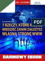 7 Rzeczy Które Musisz Wiedzieć Zanim Załozysz Własną Stronę Www - Krzysztof Morawski Full