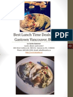 Best Lunch Time Deals in Gastown Vancouver British Columbia