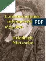 Nietzsche Consideraciones Intempestivas ALIANZA