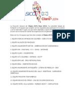 Clasico Rcn Claro 2014 Equipos Invitados y Plazos de Inscripcion