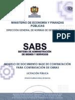 Dbc Para La Contratación de Obras - Lp