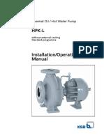 Installation Operating Manual