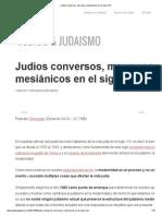 Judíos Conversos, Marranos y Mesiánicos en El Siglo XVII