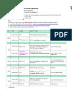 Semester2 SCM Schedule