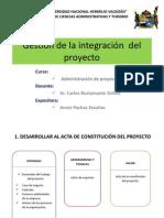 Diapositivas- Gestión de La Integración Del Proyecto
