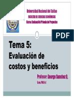 Tema 5 Evaluacion de Costos y Beneficios