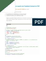 4-Cómo Autentificar Usuario Con Facebook Connect en PHP y MySQL 4