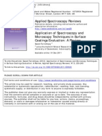 Application of Spectroscopy and Microscopy Techniques in Surface Coatings