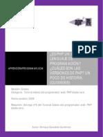 CU00806B Cuales Son Versiones PHP Poco Historia Ventajas Inconvenientes