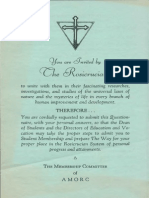 AMORC Letter and Application Feb 10 1936