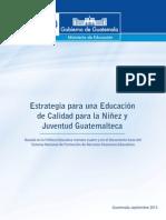 1- Documento Estrategia Para Una Educación de Calidad