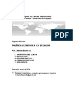 Ing Becker Politica Economica Del Ecuador