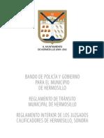 Bando de Policia y Gobierno Para El Municipio de Hermosillo