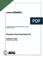 Dolomitization (AAPG Course Notes 24) [Lynton Stuart Land]