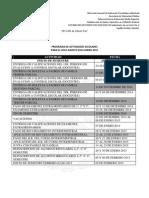 Programa de Actividades Escolares 2014-2015