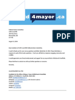 Response to CUPE 905 Survey of Municipal Candidates