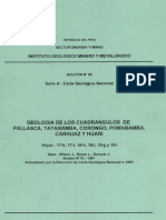Geología - Cuadrangulo de Pallasca Tayabamba Corongo Pomabamba Carhuaz y Huari