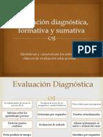 Evaluación Diagnóstica, Formativa y Sumativa 3