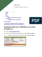 Instalando SQL Server 2008 R2 en El Servidor de SqlServer