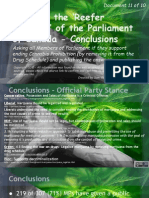 Exposing the 'Reefer Madness' of the Parliament of Canada 11of10 Conclusions