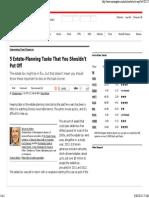 5 Estate-Planning Tasks That You Shouldn't Put Off