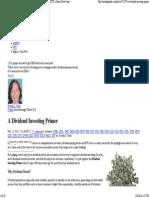 A Dividend Investing Primer