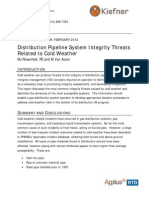 Distribution System Integrity Threats Due to Cold Weather